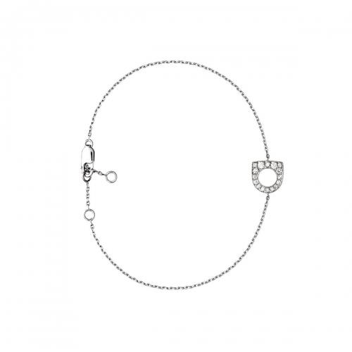Acheter Bracelet Success Mini en or gris pavé de diamants