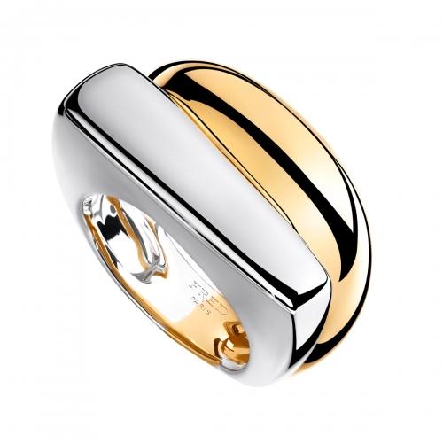 Acheter Bague Success moyen modèle en or jaune et en or gris