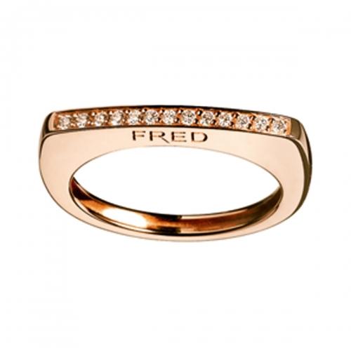 Acheter Bague Sucess Skin en or rose pavée de diamants
