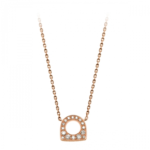 Acheter Pendentif Success Mini en or rose pavé de diamants