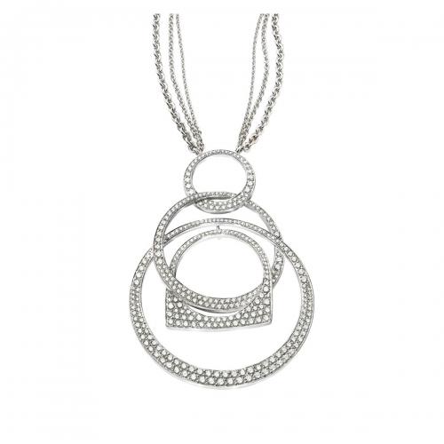 Acheter Pendentif Success Mobile en or gris pavé de diamants