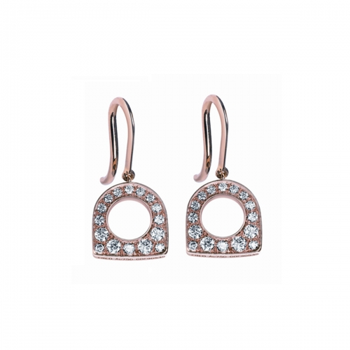 Acheter Boucles d'oreilles Success Mini en or rose pavées de diamants