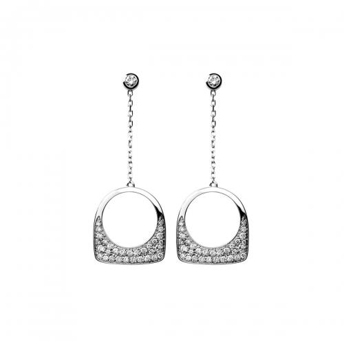 Acheter Boucles d'oreilles Success Skin en or gris pavées de diamants