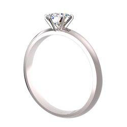 Bague solitaire 6 griffes Ajala en or blanc pour diamant rond