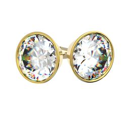 Acheter Boucles d'oreilles serti clos en or jaune pour diamant rond