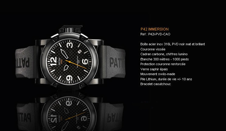 Acheter Montre P42 Immersion P42I-PVD-CAO