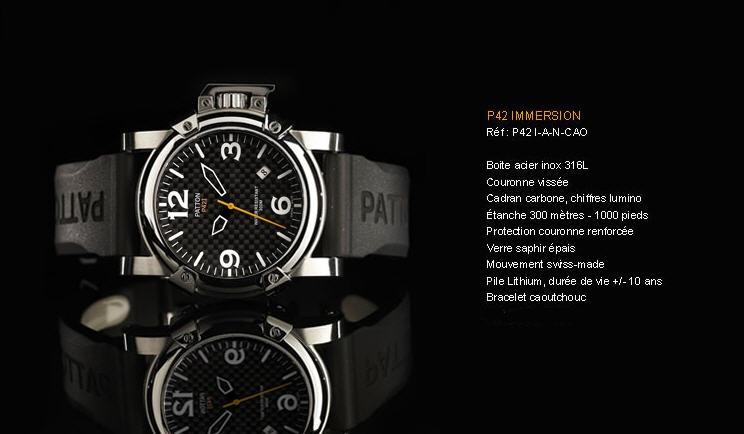 Acheter Montre P42 Immersion P42I-A-N-CAO