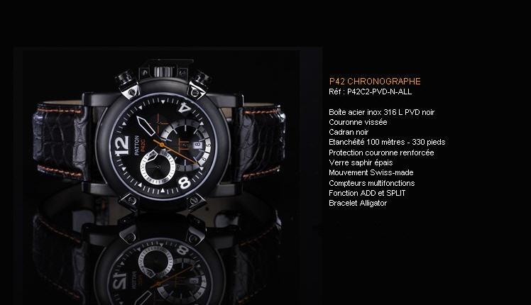 Acheter Montre P42 Chronographe P42C2- PVD-N-ALL