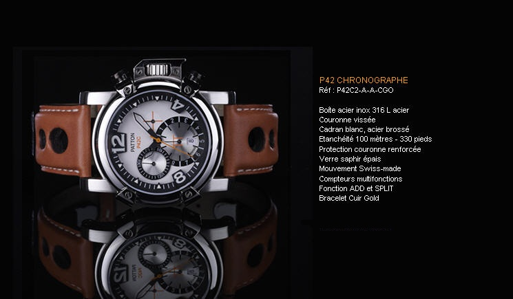 Acheter Montre P42 Chronographe P42C2- A-A-CGO