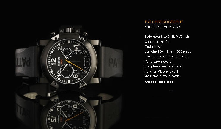 Acheter Montre P42 Chronographe P42C-PVD-N-CAO