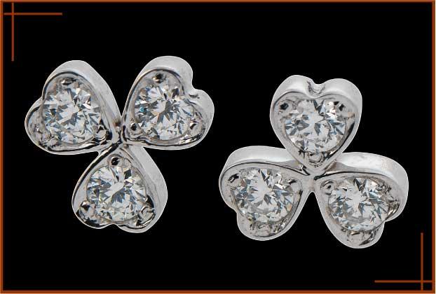 Acheter Boucles d'oreilles 3 Coeurs