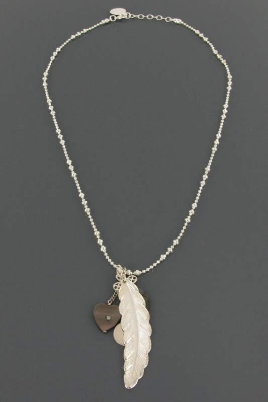 Collier Chaine et Plume