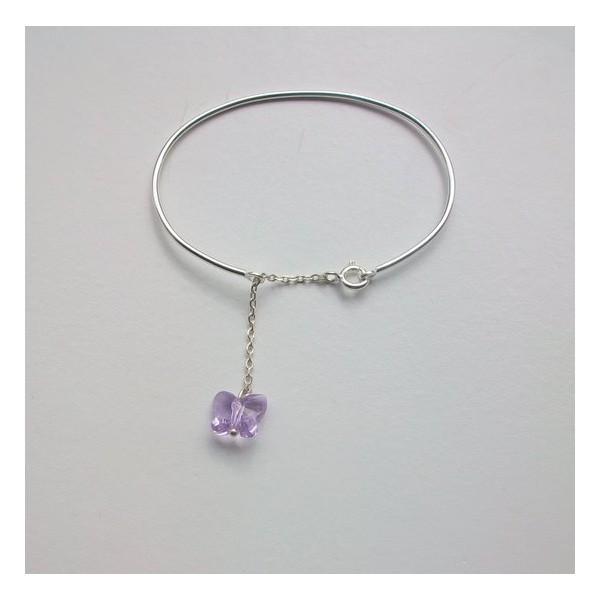 Acheter Bracelet demi jonc papillon