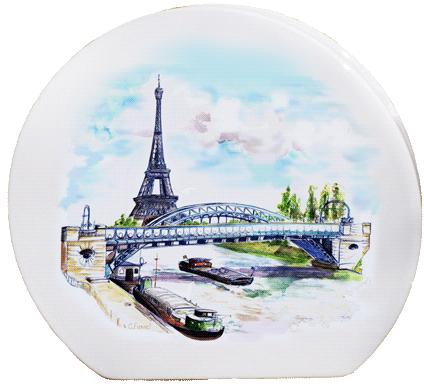 Acheter Vase disque Tour Eiffel