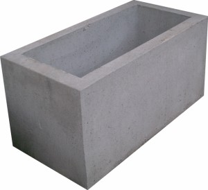 Jardini re rectangulaire carr e gris buy jardini re for Jardiniere en beton cellulaire