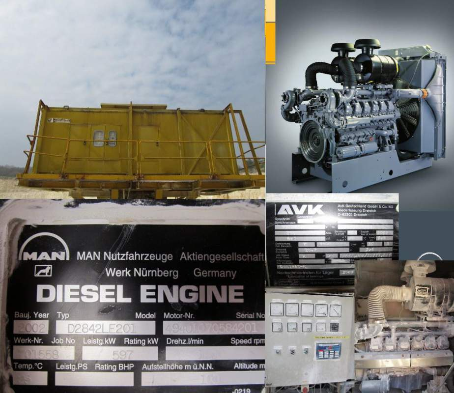 Acheter Generator MAN GERMANY 675 KVA