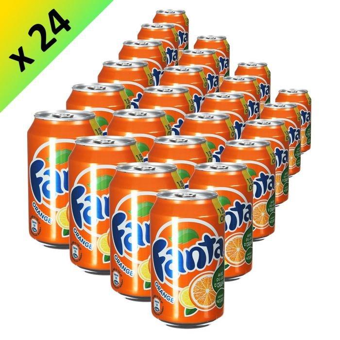 Acheter Canette fanta orange français 33 cl par pack de 24