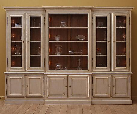 Biblioth que 6 portes en finition antique couleur gr ge lys int rieur en r - Acheter porte interieur ...