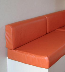 Tissu simili cuir orange