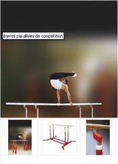Barres parallèles de compétition - Gymnova - Réf.