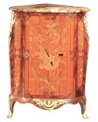 Encoignure galbée de style Louis XV d'après Roussel - Réf. 71