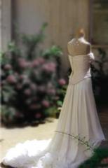 Jupe de mariée en mousseline de soie
