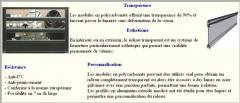 Rideaux transparents PROFILMAR