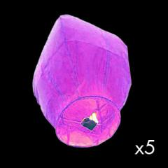 Lanternes montgolfière parmes - lot de 5