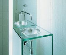 Tablette en verre salle de bain