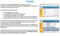 Logiciel Intranet qui s'appuie sur G-DOC - E G-DOC
