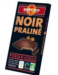 Chocolat noir praliné bio et équitable 100g - Aler Eco