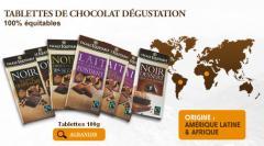 Tablettes de Chocolat Degustation 100 % equitables