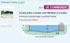 Piscine Galia 3.5x7
