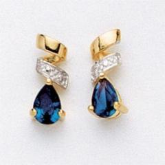 Boucles d'oreilles plaqué or et pierres