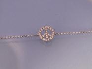 Bracelet peace and love diamants et or fabrication