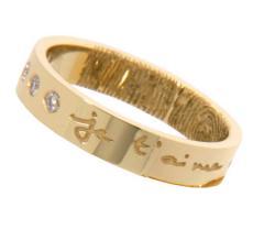 Alliance ruban diamant personnalisable Les Empreintes de Rosset-Gaulejac