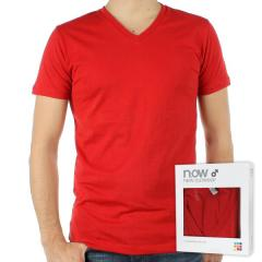 Tee Shirt NOW couleur Rouge