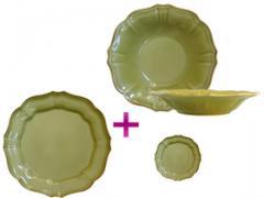 """Service de table 36 piéces """"Sienna vert"""""""