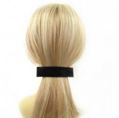 Barrette à cheveux > Barrette cheveux élégante > Barrette à cheveux noire strass noirs