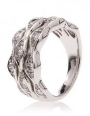 Bague Diamantine Or Blanc et Diamants REF.
