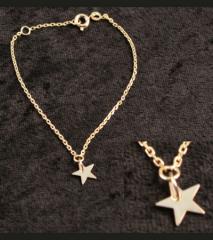 Bracelet chaîne plaqué or étoile  Baroca