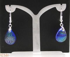 Boucles d'oreilles verre dichroïque Murano