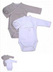 Body bébé coton ( lot de 2 ) Réf. : 1122
