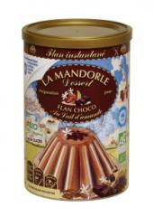 Flan chocolat au lait d'amande
