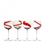 Verres à vin spirale
