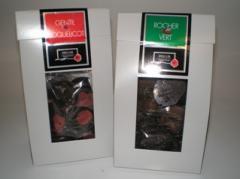 Etuits de spécialités aux chocolats