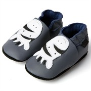 Chaussons cuir gris zèbres