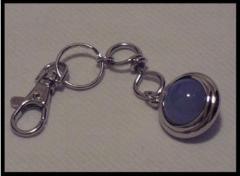 Porte clés Agathe Bleue