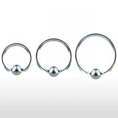 Piercing anneau captif en titane