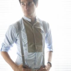 Bretelles gris clair pour homme ou femme